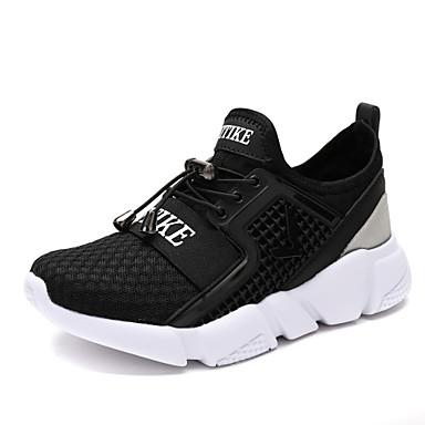 صبيان أحذية مواد متخصصة تول ربيع خريف مريح أحذية رياضية المشي مشبك دانتيل إلى فضفاض الحفلات و المساء الأماكن المفتوحة أسود أحمر أزرق