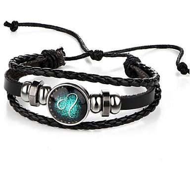 Men's / Women's Leather Bracelet - Leather Vintage Bracelet Black For Gift