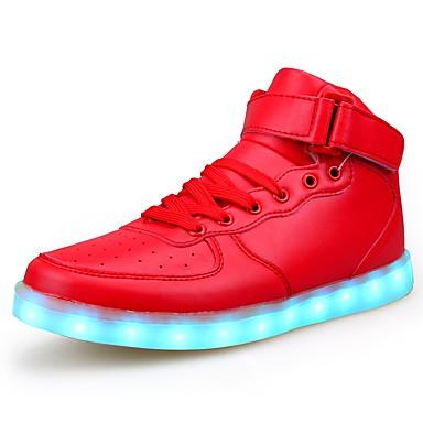 Damen Schuhe Künstliche Mikrofaser Polyurethan Winter Herbst Komfort Leuchtende LED-Schuhe Sneakers Flacher Absatz Runde Zehe