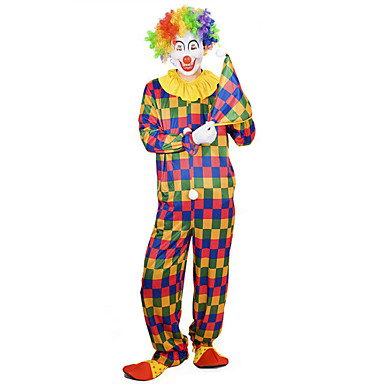 Burlesque Clown / Circus Cosplay Costume / Masquerade Men's Halloween / Carnival Festival / Holiday Halloween Costumes Rainbow Other / Vintage