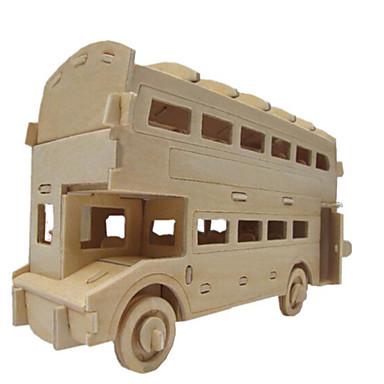 voordelige 3D-puzzels-3D-puzzels Legpuzzel Houten modellen Beroemd gebouw Huis Bus Puinen Natuurlijk Hout Unisex Speeltjes Geschenk