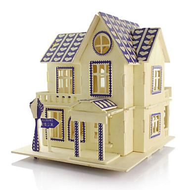 Bausteine 3D - Puzzle Holzpuzzle Modellbausätze Holzmodelle Architektur 3D Heimwerken Simulation Holz Naturholz Geburtstag 6 Jahre alt