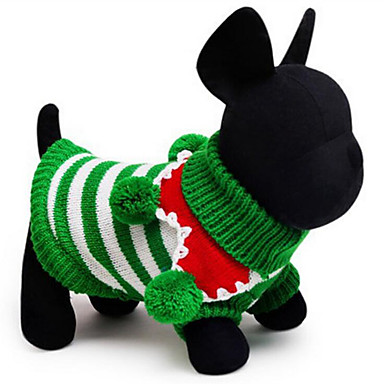 Dog Costume / Sweater Dog Clothes Christmas White / Red / Green Cotton Costume For Pets Men's / Women's Christmas
