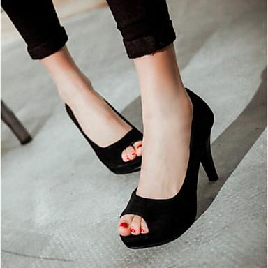 Damen Schuhe PU Sommer Komfort Sandalen für Normal Schwarz Purpur Rot