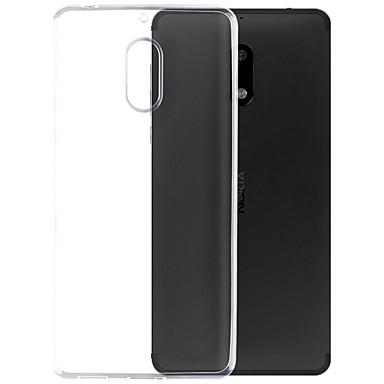 Case For Nokia Transparent Back Cover Solid Color Soft TPU for Nokia 6