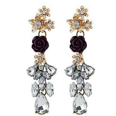 Damen Tropfen-Ohrringe Sexy Modisch individualisiert überdimensional Aleación Blumenform Schmuck Für Party Verlobung Formal