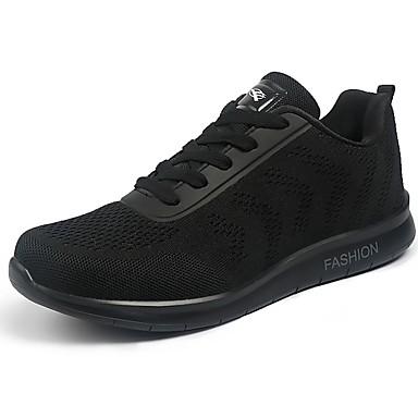 Férfi cipő Tüll Tavasz Ősz Kényelmes Sportcipők Gyalogló Fűző mert Sport Fekete Piros Kék