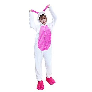 40be4646976 Kigurumi Πυτζάμες Κουνέλι/Λαγουδάκι Στολές Ροζ Flanel Στολές Ηρώων Kigurumi  Φορμάκι / Ολόσωμη φόρμα Cosplay