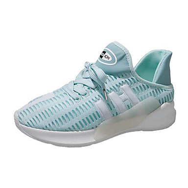 Damen Sneaker Komfort Sommer PU Normal Weiß Schwarz Hellblau 5 - 7 cm