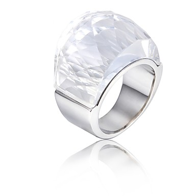 Women's Stainless Steel Band Ring - Fashion White Ring For Party / Birthday / Gift