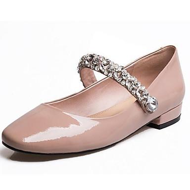 Damen Schuhe Echtes Leder PU Frühling Komfort Flache Schuhe Für Normal Schwarz Rot Mandelfarben