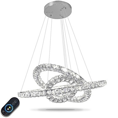 Chandelier Ambient Light - Crystal, Adjustable, Dimmable, 110-120V / 220-240V, Dimmable With Remote Control, LED Light Source Included