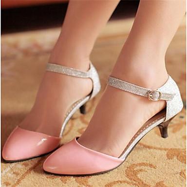 Damen Schuhe PU Frühling Sommer Komfort Sandalen Für Normal Schwarz Rosa