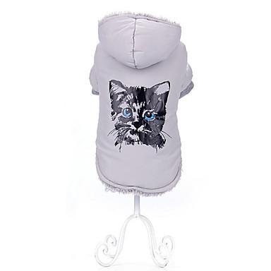 Katze Hund Mäntel Hundekleidung Cartoon Design Weiß Fuchsia Baumwolle Kostüm Für Haustiere Herrn Damen Modisch