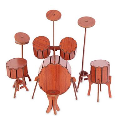 voordelige 3D-puzzels-3D-puzzels Legpuzzel Houten modellen Piano Viool Muziekinstrumenten Simulatie Puinen Natuurlijk Hout Kinderen Unisex Speeltjes Geschenk