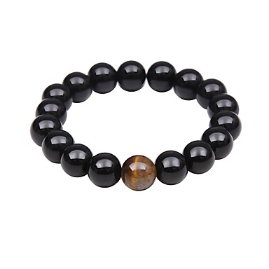 cheap Men's Bracelets-Men's Women's Bead Bracelet Good Luck Bracelet Turquoise Chakra Vintage Basic Natural Hip-Hop equilibrio Bracelet Jewelry Black For Christmas Party Casual Formal Beach