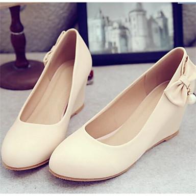 Damen Schuhe PU Frühling Komfort Loafers & Slip-Ons Für Normal Schwarz Rosa Mandelfarben