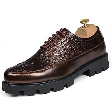رجال أحذية ستوكات صناعية PU ربيع خريف أحذية الغوص مريح أحذية رسمية أوكسفورد دانتيل من أجل زفاف فضفاض الحفلات و المساء الأماكن المفتوحة