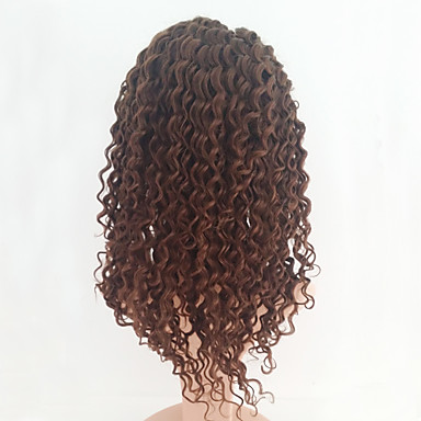 Human Hair Glueless Lace Front / Lace Front Wig Kinky Curly Wig 130% Natural Hairline / African American Wig / 100% Hand Tied Women's Medium Length / Long Human Hair Lace Wig