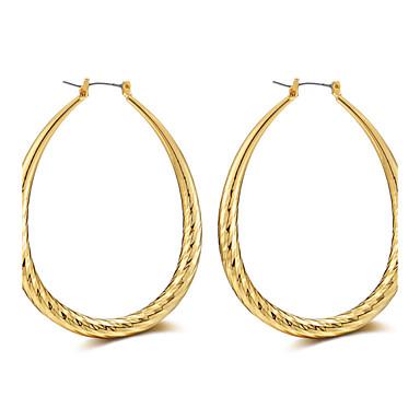 Női Luxus / Bojt / Túlméretezett Rose Gold Francia kapcsos fülbevalók - Luxus / Bojt / Szexi Arany / Ezüst Circle Shape / Geometric Shape