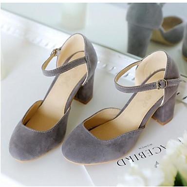 Damen Schuhe PU Frühling Sommer Komfort Sandalen Für Normal Schwarz Grau Rot