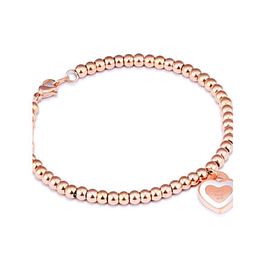 Női Kocka cirkónia Kocka cirkónia Rózsa arany bevonattal Imádni való Luxus Zvijezda Elbűvölő karkötők - Luxus Bojt Alap Circle Shape