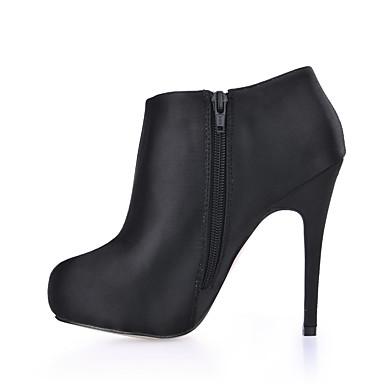 Damen Schuhe Seide Frühling / Herbst Stiefeletten Stiefel Runde Zehe Booties / Stiefeletten für Hochzeit / Party & Festivität / Kleid