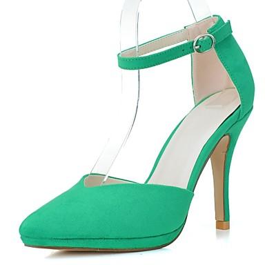 Vert Femme 06174092 Chaussures Amande à Similicuir Bout Eté formelles Aiguille Talon Chaussures Printemps Chaussures Talons Bleu pointu AwFOw