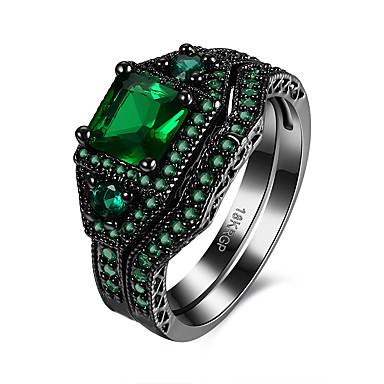 Női Gyűrű - Réz, Arannyal bevont Egyedi, Vintage 8 Bíbor / Zöld / Kék Kompatibilitás Születésnap / Parti / Estélyi / Ajándék