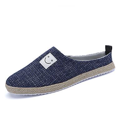 Herren Loafers & Slip-Ons Komfort PU Frühling Sommer Normal Niedriger Absatz Schwarz Beige Blau Khaki Unter 2,5 cm