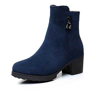 Damen Schuhe PU Herbst Komfort Stiefel Für Normal Blau