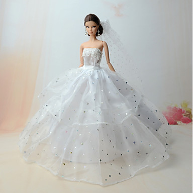 Dresses Dresses For Barbie Doll Satin/ Tulle Poly/Cotton Dress For Girl's Doll Toy