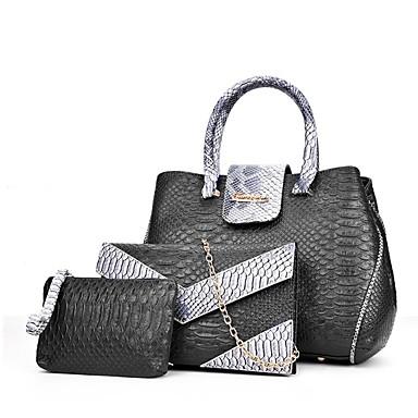 Women's Bags PU Bag Set 3 Pcs Purse Set Beige / Gray / Red