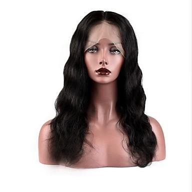 Emberi haj Csipke eleje Paróka Göndör Hullámos 130% Sűrűség Professzionális írás 100% kézi csomózású Afro-amerikai paróka Természetes