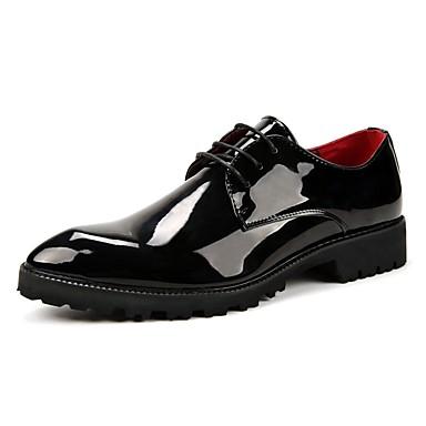Férfi cipő PU Tél Ősz Formai cipő Esküvői cipők mert Hétköznapi Party és Estélyi Fekete Piros Kék
