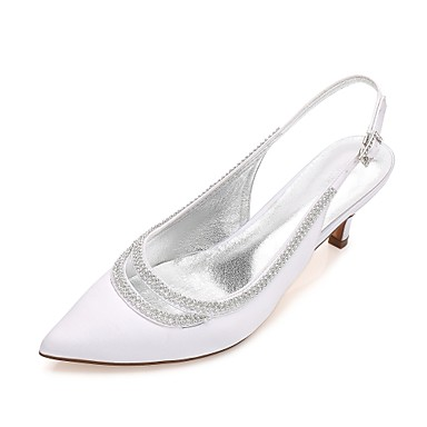 Women's Shoes Satin Spring / Summer Comfort / Mary Jane / D'Orsay & Two-Piece Wedding Shoes Kitten Heel / Cone Heel / Low Heel Pointed Toe