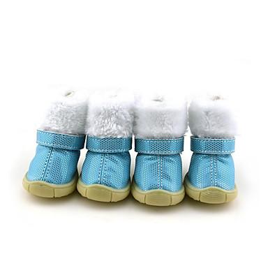 Hund Schuhe und Stiefel Lässig / Alltäglich / Wasserdicht / warm halten Punkt Blau / Rosa Für Haustiere