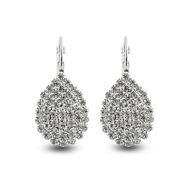 Női Szintetikus gyémánt Függők - Hamis gyémánt Leaf Shape, Lógó Személyre szabott, Luxus, Klasszikus Fehér Kompatibilitás Karácsony / Esküvő / Születésnap