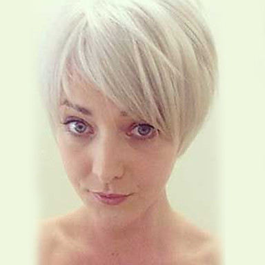 Emberi hajszelet nélküli parókák Emberi haj Egyenes Klasszikus Jó minőség Géppel készített Paróka Napi