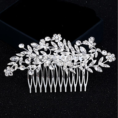 Rhinestone / Alloy Hair Combs with 1 Wedding / Special Occasion / Birthday Headpiece