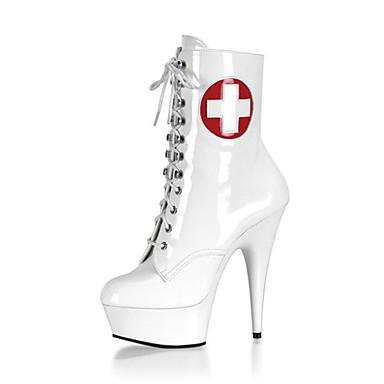 Mode rond Bout Bottes Polyuréthane Couture 06130688 Aiguille en Hiver la Demi Bottes Chaussures Bottine Automne Botte à Femme Talon Dentelle I7Pn0n