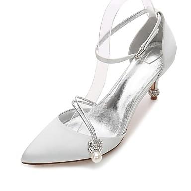 Cône Satin Basique D'Orsay Escarpin Deux de Femme 06096623 de amp; Printemps Eté Bride Pièces Chaussures Cheville mariage Chaussures Talon z8FAxw5qTx