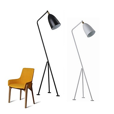 Metallic / Contemporary / Artistic Creative Floor Lamp For Metal 110-120V / 220-240V White / Black