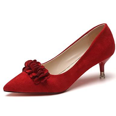 Zapatos puntiagudos rojos con flor 1Uqk9JZP