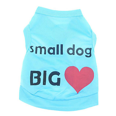 Dog Vest Dog Clothes Heart Blue / Pink Cotton Costume For Pets Summer Men's / Women's Casual / Daily