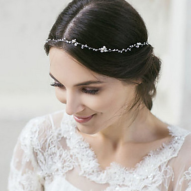 Gemstone & Crystal / Tulle / Alloy Headbands / Headpiece with Crystal / Feather 1 Wedding / Special Occasion / Halloween Headpiece