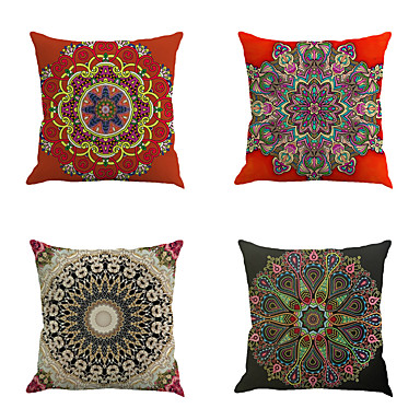4 pcs Cotton/Linen Bohemian Style Fashion Novelty Vintage Modern High Quality New Arrival Cool Beach Style Mediterranean Neoclassical