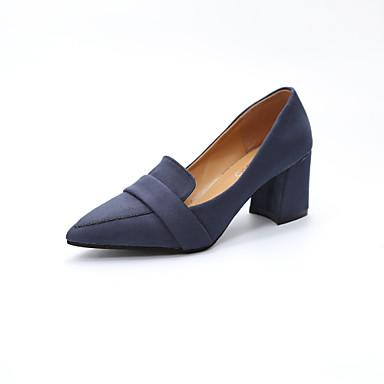 Damen Schuhe Nubukleder Frühling Herbst Pumps Komfort High Heels Blockabsatz Spitze Zehe für Büro & Karriere Party & Festivität Kleid