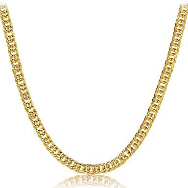 Férfi Női Luxus Arannyal bevont Rövid nyakláncok  -  Luxus Klasszikus Természet Geometric Shape Arany Nyakláncok Kompatibilitás Karácsony