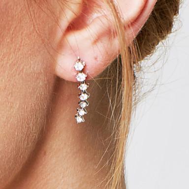 Vidali Küpeler Kristal imitasyon Pırlanta Kübik Zirconia Moda Kişiselleştirilmiş Zarif Çok güzel Kristal Zirkon Kübik Zirconia Mücevher